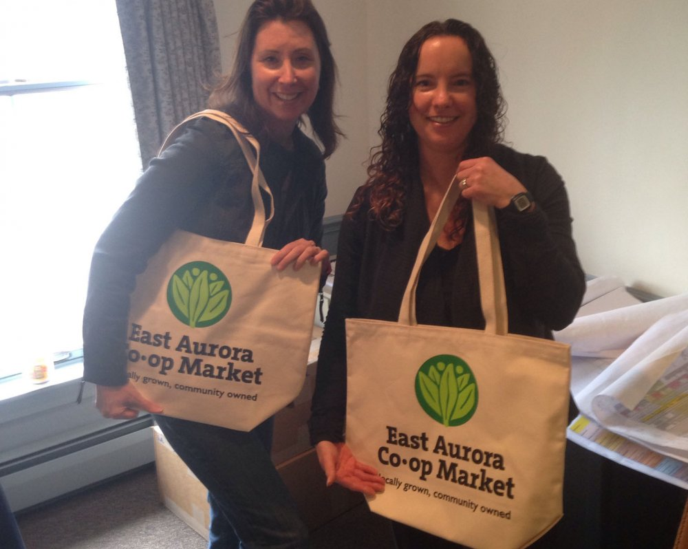 east aurora co-op market tote bags